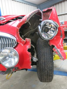 Austin Healey 3000 MK III - Currently undergoing Insurance Claim repairs after suffering an accident