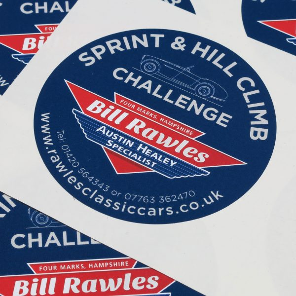 Bill Rawles Classic Cars sponsoring the Big Healey Class in the Healey Sport Sprint & Hill Climb Challenge
