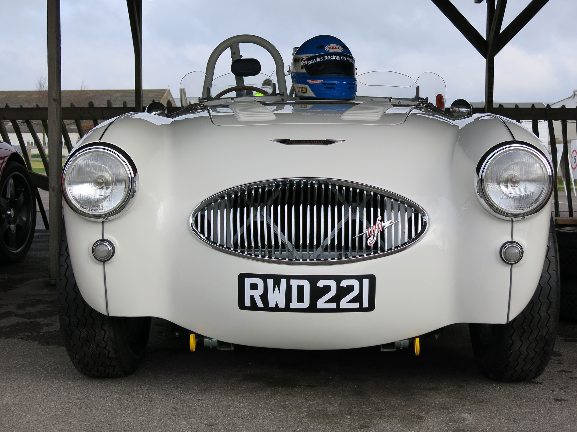 Goodwood Track day for the Austin Healey 100 S remanufactured to factory spec by Bill Rawles Classic Cars
