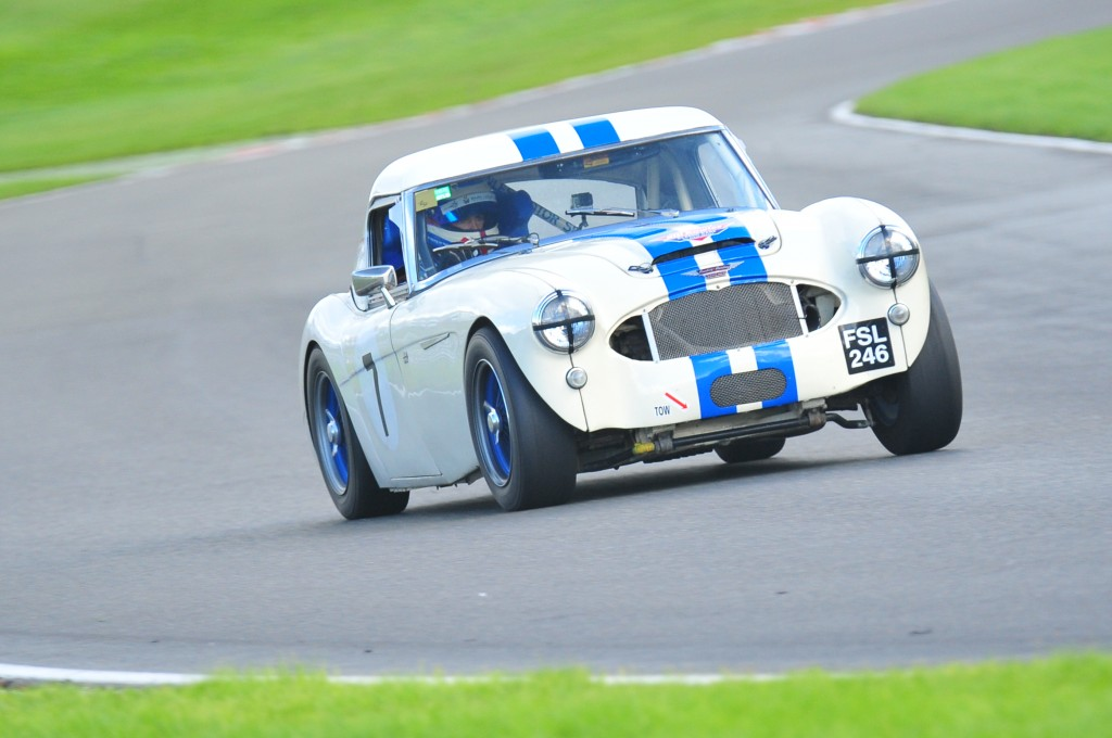 Testing the Healey prior to the Castle Combe Autumn Classic Event