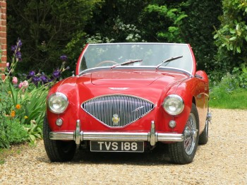 An original UK RHD Austin Healey 100/4 BN2 for sale at Bill Rawles Classic Cars