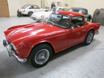 Stunning Triumph TR4 for sale at Bill Rawles Classic Cars