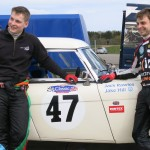 BTCC driver Jake Hill and Jack Rawles pair up for the first time to race the Bill Rawles Classic Cars Austin Healey at Silverstone in May 2016