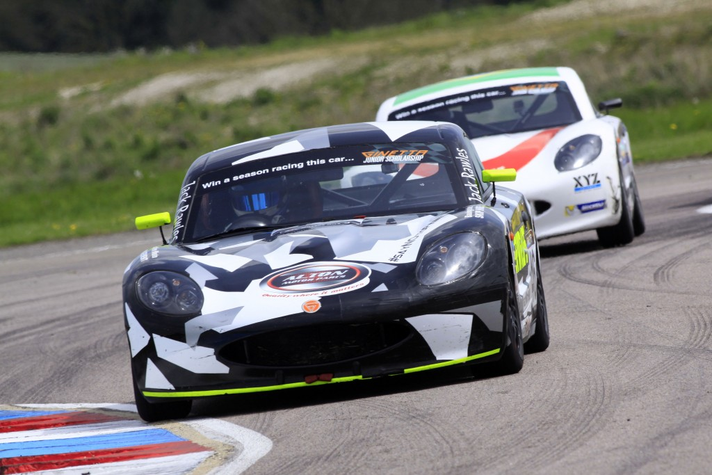 Jack is used to the TV cameras from his Ginetta Junior days, He has raced the Ginetta G40 at Thruxton but never a Healey