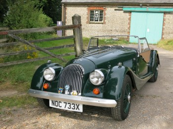Morgan 4/4 for sale at Bill Rawles Classic Cars Ltd. Supplied with full wet weather equipment and a years MOT