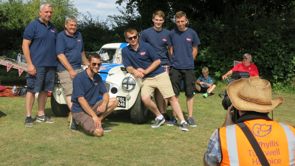 Team Rawles all pitch in to help at The White Dove Collectors' Transport Show - raising money for The Phyllis Tuckwell Hospice