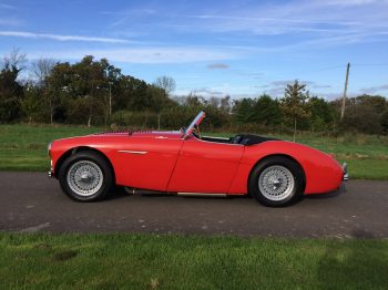 Austin Healey 100 BN1 converted to 'M' Spec for sale at Bill Rawles Classic Cars. A great car that needs to be driven
